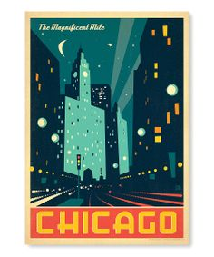 'Chicago The Magnificent Mile' Wall Art