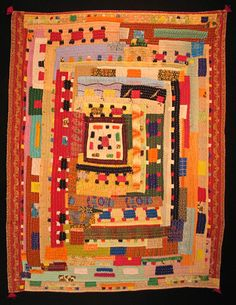 Image Detail for - Quilts Preserve Story of African-Indian Culture. Look at Siddi Womens Cooperative. Quilts Vintage, Antique Quilts, Vintage Fabrics, Log Cabin Quilts, Gees Bend Quilts, African Quilts, Medallion Quilt, String Quilts, Colorful Quilts