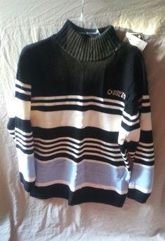 454ca90319 SOUTHPOLE Mens Turtle mock neck Heavy Bulky Ski Acrylic Sweater Size Large   Southpole
