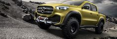 Mercedes-Benz Concept X-CLASS powerful adventurer – The top-of-the-line model will be powered by a V6 diesel in combination with 4MATIC permanent all-wheel drive.