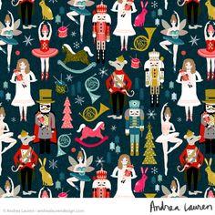 Andrea Lauren Design- linocuts, prints, and patterns