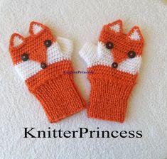 Crochet fox gloves adult size fox mittens fox by KnitterPrincess Crochet Baby Mittens, Crochet Fox, Crochet Gloves, Baby Blanket Crochet, Crochet Animals, Mobiles En Crochet, Crochet Mobile, Bff, Crochet Phone Cases