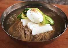 Another of my favorite Korean recipes: Naengmyeon (cold noodles). I could eat this every day!