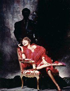 Loulou de la Falaise & Yves Saint Laurent through the lenses of Victor Skrebneski, 1987.