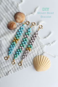diy woven bead bracelet