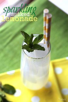 Sparkling Spiked Lemonade... making this tomorrow for a bbq!