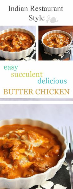 Restaurant style Butter Chicken will make you lick your fingers for a while. Wonderful combination of Indian spices turned this dish into a great delight. Pork Recipes, Lunch Recipes, Crockpot Recipes, Vegetarian Recipes, Dinner Recipes, Chicken Recipes, Savoury Recipes, Yummy Recipes, Inexpensive Meals