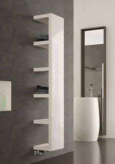 #modernbathroomtowelshelf #bathroomdesignideas #bathroomrenovations #bathroomdesign #radiators #bathroom #radiator #dramatic #bathroom #effect #towel #shelf #the #inTowel radiator shelf . Dramatic Effect in the Bathroom! Bedroom Radiators, Bathroom Towel Radiators, Modern Bathroom Design, Bathroom Interior Design, Radiator Shelf, Vertical Radiators, Designer Radiator, Bathroom Renovations, Small Bathroom