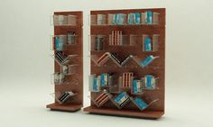 "Bookshelf ""awayo"" design + Ines Boente  ...made for a design contest, south american traditional textile concept applied!"