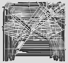 Pablo Siquier, 0804, 2008 Abstract Lines, Abstract Art, Black And White Canvas, Art Classroom, Contemporary Artists, Im Not Perfect, Art Gallery, Art Prints, Drawings