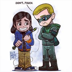 """""""IToys"""" What a great crossover!! Hope to see more!! #Arrow #ArrowVsFlash #greenarrow #olliverqueen #ciscoramon #TheFlash #cw #stephenamell #carlosvaldes #mangastudioex5"""
