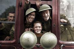 Soldados britânicos voltando do front, em 1939.