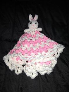 Crochet bunny security blanket:-)   ~ hookedonyarn23@aol.com for orders ~