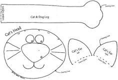 выкройка кота подушки