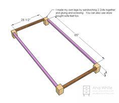 Ана Белый | Построить диван для хранения | Свободный и легкий DIY проект и мебель Планы
