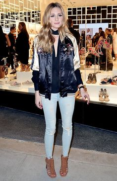 The Ultimate Celebrity Guide to Wearing a Bomber Jacket via @WhoWhatWear