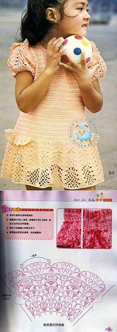 Вязаное платье для девочки крючком и вязаная юбка крючком для девочки | Вязание крючок детям | Постила