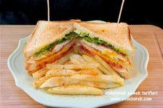 Kulüp Sandviç Tarifi  Hem leziz hem de zengin bir sandviç olan kulüp sandviç tarifimizi denemenizi tavsiye ederiz. Evdeborek yemek tarifleri olarak afiyet dileriz.   http://www.evdeborek.com/kulup-sandvic-tarifi/1141/