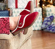 Comfort and joy! Orthaheel slippers to keep her twinkle toes warm! #GiftIdeas