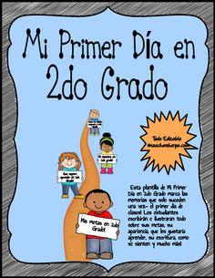 Perfect for your Bilingual, Dual Language, or Spanish class! Esta plantilla de mi primer día en 2do grado marca los acontecimientos que suceden una sola vez-¡ el primer día de clases! Los estudiantes escribirán e ilustrarán sobre sus metas, como se veían, que quieren aprender, su escritura, como se sienten y mucho más!¡ Que genial recuerdo para los padres también! Todo en este paquete es editable - miles de imágenes y divertidas selecciones de DIY para niños.