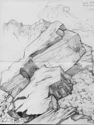 Image result for how to draw realistic rocks