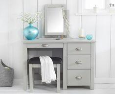 Somerset Grey Single Pedestal Dressing Table