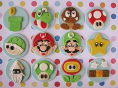 https://flic.kr/p/aVzQD6 | Super Mario Bros. Cupcake Toppers