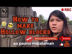 HOW TO MAKE HOLLOW BLOCKS #HollowBlocks - YouTube Bell Button, Construction Business, Channel, Youtube, How To Make, Youtubers, Youtube Movies