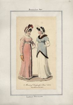 Ladies' Museum, Morning Dresses, December 1801.