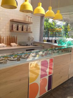 :) Restaurant Interior Design, Cafe Interior, Shop Interior Design, Retail Design, Deli Shop, Vegetable Shop, Pop Up Restaurant, Food Stall, Gelato