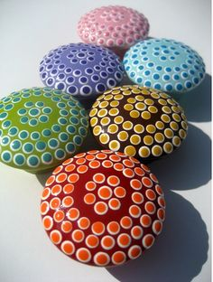 hand painted drawer knobs