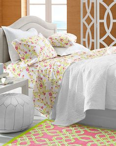 lilly oh pulitzer cheery blossom percale bedding garnet hill