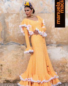 Colección 2019 Manuela Macías Moda Flamenca Flamenco Costume, Short Sleeve Dresses, Dance, Costumes, Womens Fashion, Outfits, Clothes, Malaga, Design
