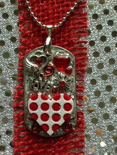 Darling Valentine's Day Dog Tag Pendant by KsPeddlers on Etsy also visit www.facebook.com/Washerwear to see more pendants