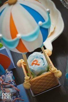 Hot Air Balloon themed baby shower with So Many Darling Ideas via Kara's Party Ideas