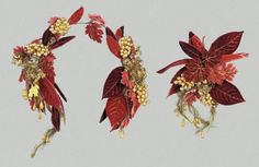 Headdress and bouquet, ca 1840's-60's France (worn in the United States), MFA Boston