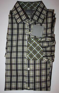 Mens Size 2XL Thomas Dean Button Front Casual Shirt Plaid New | eBay