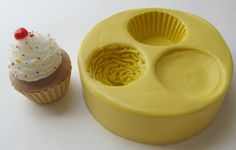 Molds Cupcake Mold Kawaii Decoden Fake Frosting by WhysperFairy, $14.95