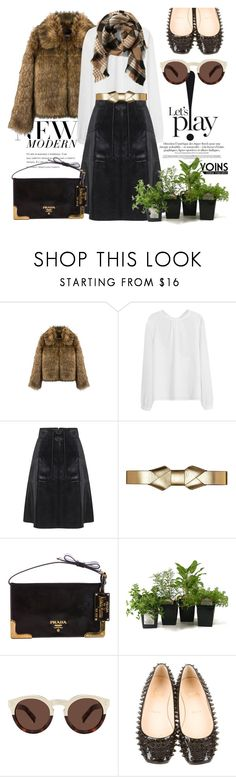 """""""winter browns with yoins"""" by pensivepeacock ❤ liked on Polyvore featuring Marni, Prada, Illesteva, Christian Louboutin, Abercrombie & Fitch, MustHave and winter2015"""