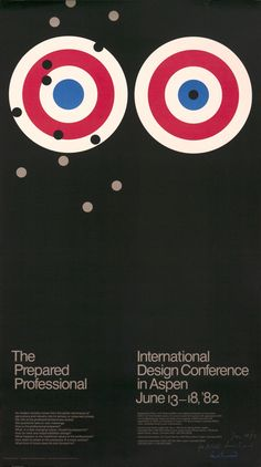 Rand, Paul poster: International Design Conference in Aspen - The Prepared Professional