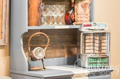 DIY Serving bar with reclaimed wood