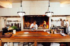 Five chefs are adding casual global charm to this Australian city's restaurant scene. Barn Kitchen, Kitchen Dinning, Rustic Kitchen, Country Kitchen, Dining, Meat Restaurant, Rustic Restaurant, Restaurant Design, Küchen Design