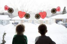 Valentines Garland 3 Ways - Red Stamp