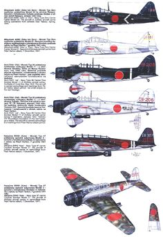 Japanese carrier aircraft Ww2 Aircraft, Fighter Aircraft, Aircraft Carrier, Military Aircraft, Imperial Japanese Navy, Old Planes, Luftwaffe, Military History, World War Two