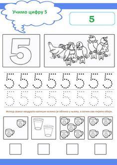 broj5 Preschool Number Worksheets, Preschool Writing, Numbers Preschool, Tracing Worksheets, Kindergarten Worksheets, Preschool Activities, Number Writing Practice, Writing Numbers, Math Numbers