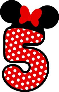 Number five ♥ Minnie Mouse Mickey Mouse E Amigos, Mickey E Minnie Mouse, Theme Mickey, Mickey Party, Mickey Mouse And Friends, Silhouette Mickey, Scrapbook Da Disney, Minnie Mouse Clipart, Disney Alphabet