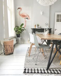Flamingo Fever in your interior! Some pretty pastel wall decoration with IXXI. Decor, Room Inspiration, Sweet Home, Interior Inspiration, Home And Living, Interior, Home Decor, House Interior, Home Deco