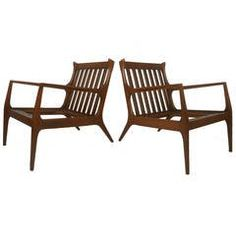 American Walnut Lounge Chairs