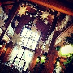 Звезды для оформление ресторана на новогодний корпоратив. Проект Симфонии любви. Очень теплую и душевную атмосферу получилась у нас создать)