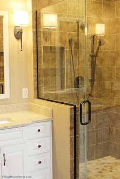 Moline IL Bathroom With Custom Tiled Shower Remodeled From Start - Bathroom remodel stores